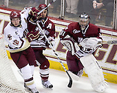 Ben Smith (BC - 12), Martin Nolet (UMass - 2), Paul Dainton (UMass - 31) - The Boston College Eagles defeated the University of Massachusetts-Amherst Minutemen 5-2 on Saturday, March 13, 2010, at Conte Forum in Chestnut Hill, Massachusetts, to sweep their Hockey East Quarterfinals matchup.