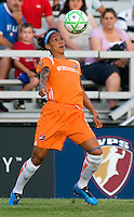 Sky Blue FC  forward Natasha Kai (6) handles the ball during a WPS match against the Saint Louis Athletica at Anheuser-Busch Soccer Park, in St. Louis, MO, July 22, 2009. Athletica won the match 1-0.