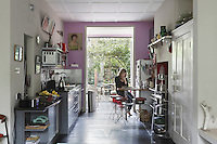 Owner Alisa Barry at the breakfast bar in her London kitchen
