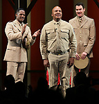 """Blair Underwood, David Alan Grier and Jerry O'Connell During the Broadway Opening Night Curtain Call Bows for The Roundabout Theatre Company's """"A Soldier's Play""""  at the American Airlines Theatre on January 21, 2020 in New York City."""