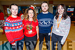 Katie Mulvihill, Lisa McCarthy, Sean Goodwen and Siobhan Ladden, staff of University Hospital Kerry supporting the Christmas Jumper appeal day in support of the St Vincent de Paul charity on Friday.
