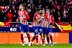 Diego Costa of Atletico de Madrid (C) celebrates his goal with his teammates during the La Liga 2018-19 match between Atletico Madrid and FC Barcelona at Wanda Metropolitano on November 24 2018 in Madrid, Spain. Photo by Diego Souto / Power Sport Images