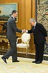 20170331. Spanish King Felipe attends audience at Zarzuela Palace.