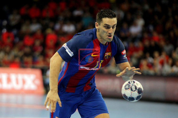 VELUX EHF <br /> 2016/17 EHF Men's Champions League Group Phase - Round 5.<br /> FC Barcelona Lassa vs Telekom Veszprem: 26-23.<br /> Kiril Lazarov.