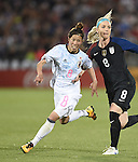 Sonoko Chiba (JPN), Julie Johnston (USA), JUNE 2, 2016 - Football / Soccer : Women's International Friendly match between United States 3-3 Japan at Dick's Sporting Goods Park in Commerce City, Colorado, United States. (Photo by AFLO)