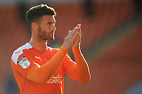 Blackpool's Gary Madine applauds the fans at full-time<br /> <br /> Photographer Kevin Barnes/CameraSport<br /> <br /> The EFL Sky Bet League One - Blackpool v Swindon Town - Saturday 19th September 2020 - Bloomfield Road - Blackpool<br /> <br /> World Copyright © 2020 CameraSport. All rights reserved. 43 Linden Ave. Countesthorpe. Leicester. England. LE8 5PG - Tel: +44 (0) 116 277 4147 - admin@camerasport.com - www.camerasport.com