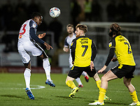 Bolton Wanderers' Joe Dodoo (left) heads under pressure from Burton Albion's Stephen Quinn <br /> <br /> Photographer Andrew Kearns/CameraSport<br /> <br /> The Premier League - Leicester City v Aston Villa - Monday 9th March 2020 - King Power Stadium - Leicester<br /> <br /> World Copyright © 2020 CameraSport. All rights reserved. 43 Linden Ave. Countesthorpe. Leicester. England. LE8 5PG - Tel: +44 (0) 116 277 4147 - admin@camerasport.com - www.camerasport.com