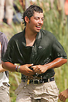 Pablo Larrazabal after being dumped into the water after winning the 2008 Open de France ALSTOM at Le Golf National, Paris, France - 29th June 2008 (Photo by Manus O'Reilly/GOLFFILE)