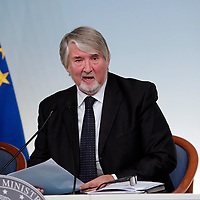 Giuliano Poletti, minister of Labour<br /> Roma 21/11/2017. Palazzo Chigi. Conferenza stampa al termine dell'incontro Governo - Sindacati<br /> Rome November 21st 2017. Press conference at the end of the meeting between Government and Trade Unions<br /> Foto Samantha Zucchi Insidefoto