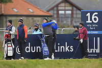 Oliver Fisher (ENG) on the 16th tee during round 4 of the Alfred Dunhill Links Championship at Old Course St. Andrew's, Fife, Scotland. 07/10/2018.<br /> Picture Thos Caffrey / Golffile.ie<br /> <br /> All photo usage must carry mandatory copyright credit (&copy; Golffile | Thos Caffrey)