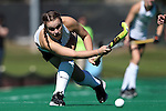 25 October 2014: Wake Forest's Shannon Eby (CAN). The University of North Carolina Tar Heels hosted the Wake Forest University Demon Deacons at Francis E. Henry Stadium in Chapel Hill, North Carolina in a 2014 NCAA Division I Field Hockey match. UNC won the game 3-1.