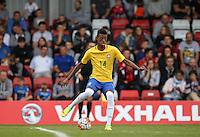 Robson of Brazil during the International match between England U20 and Brazil U20 at the Aggborough Stadium, Kidderminster, England on 4 September 2016. Photo by Andy Rowland / PRiME Media Images.