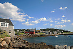 Harbor scene,  Monhegan Island, Monhegan Plantation, Lincoln County, Maine, USA