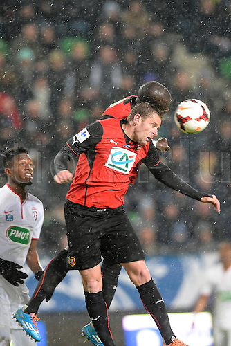 27.03.2014 Rennes, France. Sylvain Armand (Rennes) in action during the Coupe de France quarter final match between Rennes and Lille. Rennes won the match 2-0.