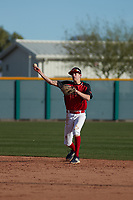Charles Summers (7) of Providence Academy in Bentonville, Arkansas during the Baseball Factory All-America Pre-Season Tournament, powered by Under Armour, on January 14, 2018 at Sloan Park Complex in Mesa, Arizona.  (Freek Bouw/Four Seam Images)