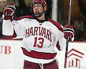 Greg Gozzo (Harvard - 13) - The Harvard University Crimson defeated the Princeton University Tigers 3-2 on Friday, January 31, 2014, at the Bright-Landry Hockey Center in Cambridge, Massachusetts.