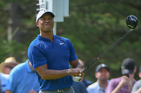 Tiger Woods (USA) watches his tee shot on 13 during 1st round of the World Golf Championships - Bridgestone Invitational, at the Firestone Country Club, Akron, Ohio. 8/2/2018.<br /> Picture: Golffile | Ken Murray<br /> <br /> <br /> All photo usage must carry mandatory copyright credit (© Golffile | Ken Murray)