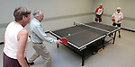 From left, Betty Young, Bill Kenson, Bob Peterson and Shirley Lang play ping pong at the Carson City Senior Citizen Center in Carson City, Nev., on Wednesday, Aug. 22, 2012..Photo by Cathleen Allison
