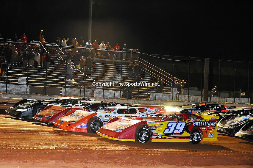 Jan 28, 2010; 9:10:53 PM; Waynesville, GA., USA; The Southern All Stars Racing Series running The Super Bowl of Racing VI at Golden Isles Speedway.  Mandatory Credit: (thesportswire.net)