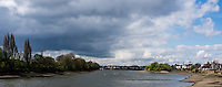 Hammersmith  Great Britain.<br /> <br /> Round and About - Sons Of the Thames RC<br /> Looking up river towards Chiswick Eyot on the Right  and Corney Reach, directly ahead.<br /> <br /> <br /> Saturday  23/04/2016<br /> <br /> [Mandatory Credit; Peter Spurrier/Intersport-images]