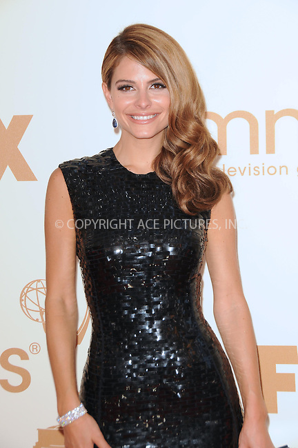 WWW.ACEPIXS.COM . . . . .  ....September 18 2011, LA....Maria Menounos arriving at the 63rd Annual Primetime Emmy Awards held at Nokia Theatre L.A. LIVE on September 18, 2011 in Los Angeles, California....Please byline: PETER WEST - ACE PICTURES.... *** ***..Ace Pictures, Inc:  ..Philip Vaughan (212) 243-8787 or (646) 679 0430..e-mail: info@acepixs.com..web: http://www.acepixs.com