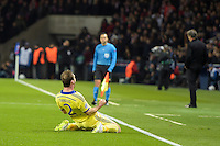 17.02.2015. Paris, France. Champions League football. Paris St Germain versus Chelsea. Goal celebrations from Branislav Ivanovic (Chelsea)