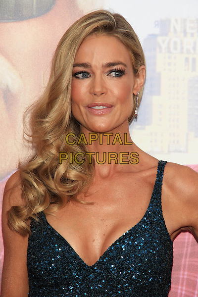 "Denise Richards  .The Premiere of ""Madea's Witness Protection"" held at AMC Loews Lincoln Square Cinemas, New York, NY., USA..June 25th, 2012.headshot portrait blue green beads beaded  embellished jewel encrusted  .CAP/LNC/TOM.©LNC/Capital Pictures."
