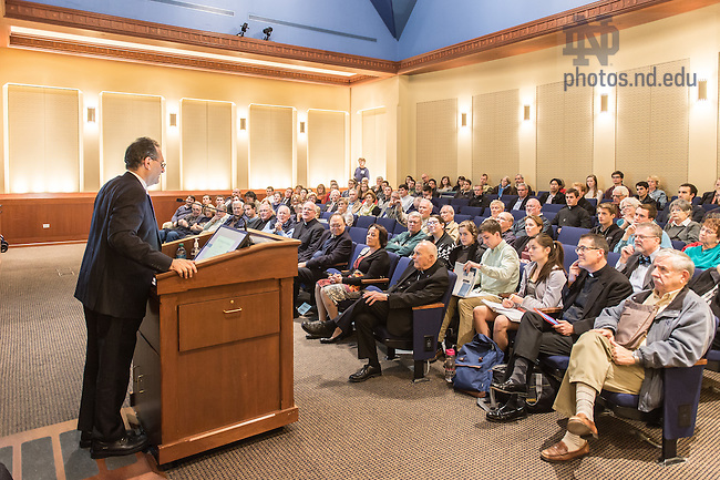 Nov. 11, 2015; Joseph Zahra speaks in the Eck Visitor Center Auditorium. (Photo by Matt Cashore/University of Notre Dame)
