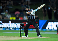 New Zealand's Trent Boult bats during the 4th Twenty20 International cricket match between NZ Black Caps and England at McLean Park in Napier, New Zealand on Friday, 8 November 2019. Photo: Dave Lintott / lintottphoto.co.nz