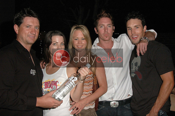 Joshua King and Haylie Sinclair with Kimberly Behley and Gardner Dunn<br />