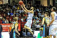 GRONINGEN - Basketbal, Donar - Den Helder Suns, Dutch Basketbal League, seizoen 2018-2019, 20-04-2019, Donar speler Shane Hammink op weg naar score
