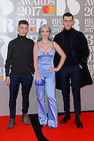 www.acepixs.com<br /> <br /> February 22 2017, London<br /> <br /> Clean Bandit arriving at The BRIT Awards 2017 at The O2 Arena on February 22, 2017 in London, England.<br /> <br /> By Line: Famous/ACE Pictures<br /> <br /> <br /> ACE Pictures Inc<br /> Tel: 6467670430<br /> Email: info@acepixs.com<br /> www.acepixs.com