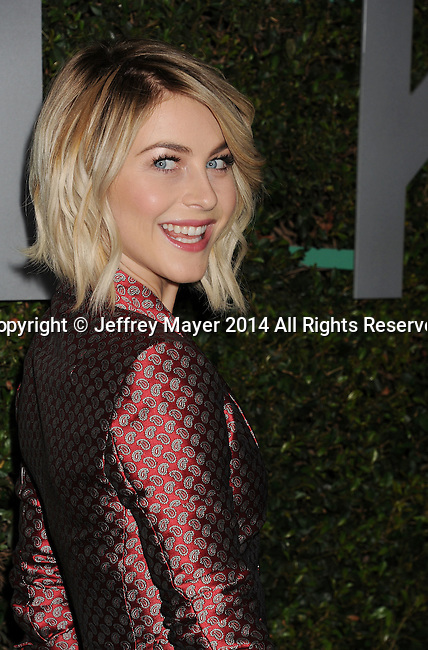 BEVERLY HILLS, CA- OCTOBER 02: TV personality/dancer Julianne Hough arrives at the Michael Kors Hosts Launch Of Claiborne Swanson Frank's 'Young Hollywood' Portrait Book at a private residence on October 2, 2014 in Beverly Hills, California.