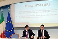Roma, 6 Settembre 2018<br /> Giuseppe Conte e Luigi Di Maio.<br /> Palazzo Chigi<br /> Conferenza stampa su Decreto Anti Corruzione