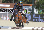 29.09.2013 Barcelona, Spain. Furusiyya FEI Nations Cup Final. Picture show Ulrich Kirchhoff (UKR) riding Carlina at Club de Polo