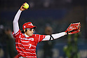 Yukiko Ueno (Bee Queen), APRIL 17, 2016 - Softball : 49th Japan Women's Softball League between Bic Camera Bee Queen 7-1 Honda Reverta at QVC Marine Field, Chiba, Japan. (Photo by Yusuke Nakanishi/AFLO SPORT)