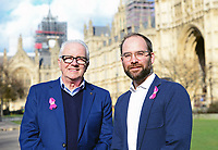 Picture by SWpix.com - 07/03/2018 - Cycling - 2018 OVO Energy Women's Tour Launch - Westminster, London, England - Mick Bennett (SweetSpot) and Chris Houghton (OVO Energy) pictured at College Green outside the Houses of Parliament to launch the 2018 OVO Energy Women's Tour.