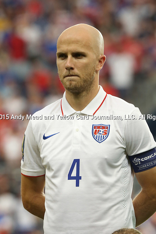 13 July 2015: Michael Bradley (USA). The United States Men's National Team played the Panama Men's National Team at Sporting Park in Kansas City, Kansas in a 2015 CONCACAF Gold Cup Group A match.