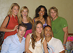 OLTL cast backstage -  back row, Bree Williamson, Justis Bolding, January Lavoy, Chase Coleman. Front row - Mark Lawson, BethAnn Bonner, Kamar de los Reyes at the  One Life To Live Fan Club Luncheon on August 16, 2008 at the New York Marriott Marquis, New York, New York.  (Photo by Sue Coflin/Max Photos)
