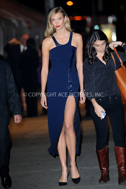WWW.ACEPIXS.COM<br /> November 9, 2015 New York City<br /> <br /> Karlie Kloss is seen outside Carnegie Hall on November 9, 2015 in New York City.<br /> <br /> Credit: Kristin Callahan/ACE<br /> <br /> Tel: (646) 769 0430<br /> e-mail: info@acepixs.com<br /> web: http://www.acepixs.com