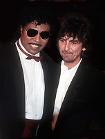 Little Richard and George Harrison 1982<br /> Photo By John Barrett/PHOTOlink.net/MediaPunch