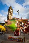 © Joel Goodman - 07973 332324 . 31 August 2013 . Rochdale , UK . Funfair in front of the Town Hall . The Rochdale Feel Good Festival . Photo credit : Joel Goodman