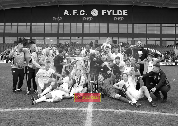 29/04/2017 National League North AFC Fylde v Worcester City<br /> <br /> League Champions AFC Fylde celebrate
