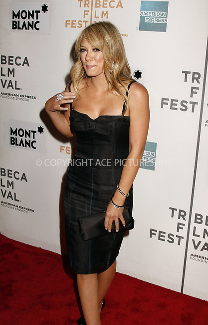 WWW.ACEPIXS.COM . . . . .  ....April 28 2008, New York City....Actress Hilary Duff arriving at the premiere of 'War, Inc.' at the Tribeca Film Festival.....Please byline: AJ Sokalner - ACEPIXS.COM..... *** ***..Ace Pictures, Inc:  ..te: (646) 769 0430..e-mail: info@acepixs.com..web: http://www.acepixs.com
