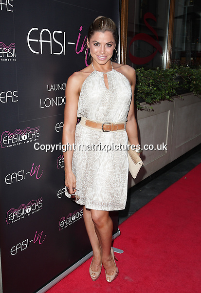 NON EXCLUSIVE PICTURE: MATRIXPICTURES.CO.UK<br /> PLEASE CREDIT ALL USES<br /> <br /> WORLD RIGHTS<br /> <br /> English glamour model Louise Glover attending the Easilocks launch party at London's Sanctum Hotel.<br /> <br /> JULY 9th 2013<br /> <br /> REF: GBH 134704