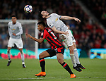 Matteo Darmian of Manchester United tussles with Lys Mousset of Bournemouth during the premier league match at the Vitality Stadium, Bournemouth. Picture date 18th April 2018. Picture credit should read: David Klein/Sportimage