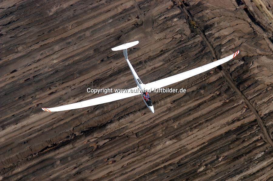 Segelflug, Segelflugzeug, Ventus 2 cm, Braunkohle, Tagebau, Lausitz, Sachsen