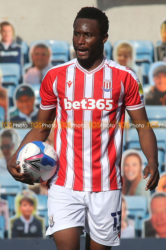 John Obi Mikel of Stoke City and formerly Chelsea during Millwall vs Stoke City, Sky Bet EFL Championship Football at The Den on 12th September 2020