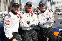 Max Thieriot, Cole Hauser, Brett Davern<br /> at the Toyota Grand Prix of Long Beach Pro/Celebrity Race Press Day, Long Beach Grand Prix Raceway, Long Beach, CA 04-01-14<br /> David Edwards/DailyCeleb.Com 818-249-4998