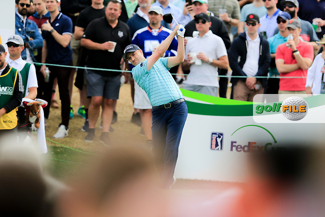 Russell Knox (SCO) on the 11th tee during the 3rd round of the Waste Management Phoenix Open, TPC Scottsdale, Scottsdale, Arisona, USA. 02/02/2019.<br /> Picture Fran Caffrey / Golffile.ie<br /> <br /> All photo usage must carry mandatory copyright credit (© Golffile | Fran Caffrey)